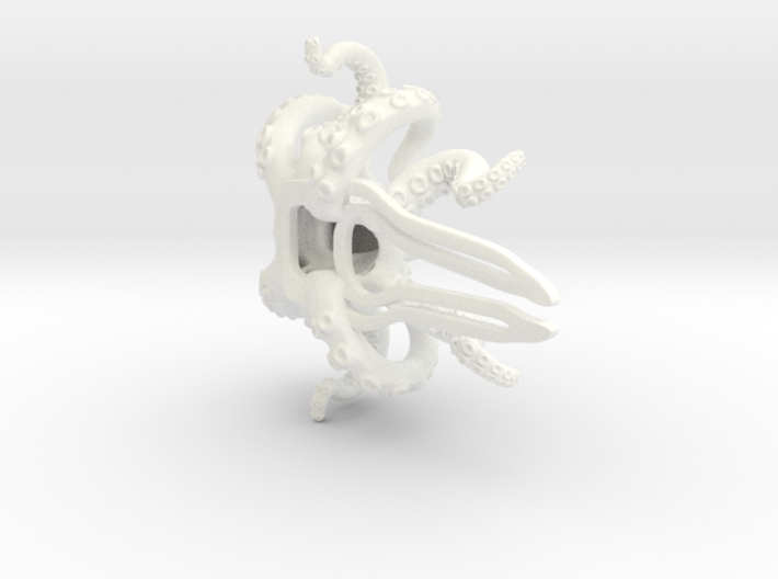 Orchid Octopus Hair Comb 3d printed