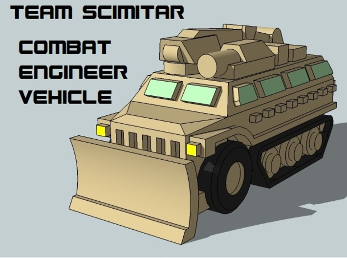 """Team Scimitar"" 3mm Mechanized Task Force (52 pcs) 3d printed"