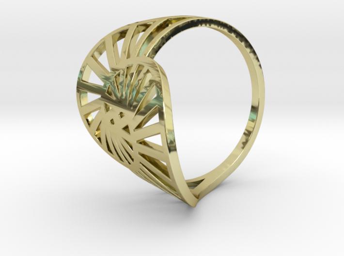 Nautilus Ring Size 6 3d printed