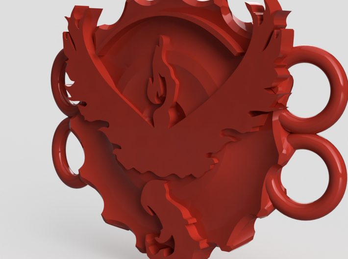 Pokemon Go Team Valor Bracelet Medallion 3d printed