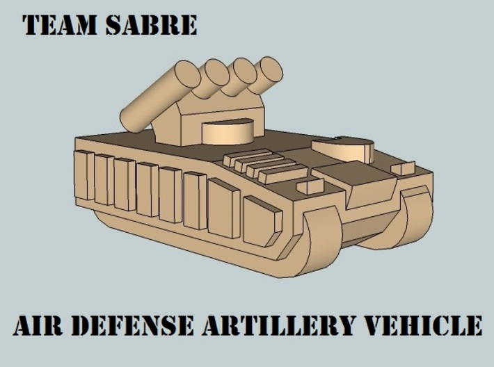 """Team Sabre"" 3mm Tracked Armor HQ Section (14pcs) 3d printed"