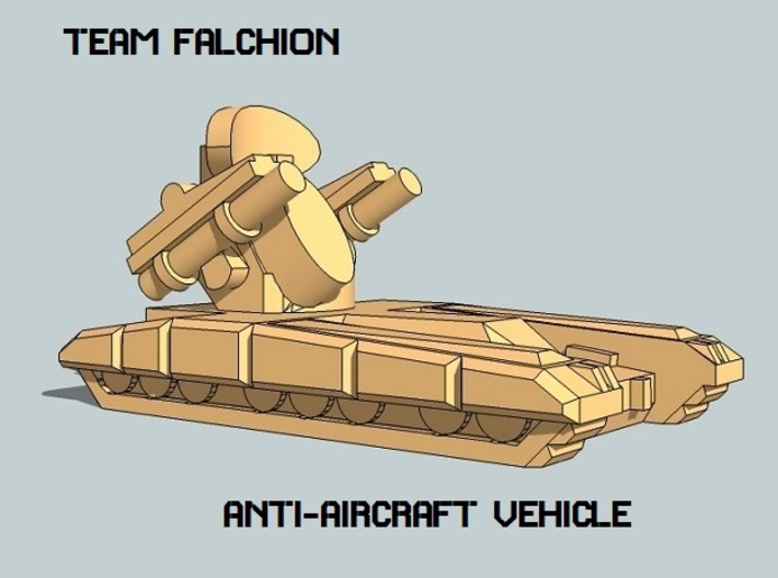 """Team Falchion"" 3mm Tracked Armor Sampler 3d printed"