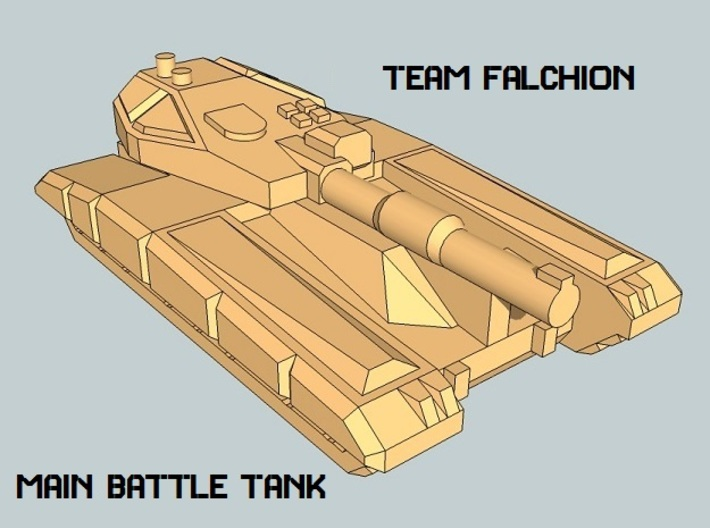 """Team Falchion"" 3mm Tracked Task Force (56pcs) 3d printed"