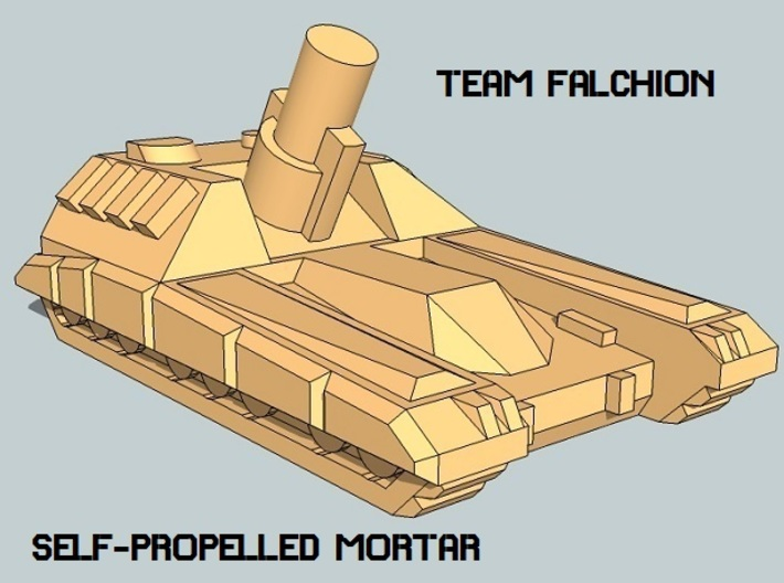 """""""Team Falchion"""" 3mm Tracked Fire Support (12pcs) 3d printed"""