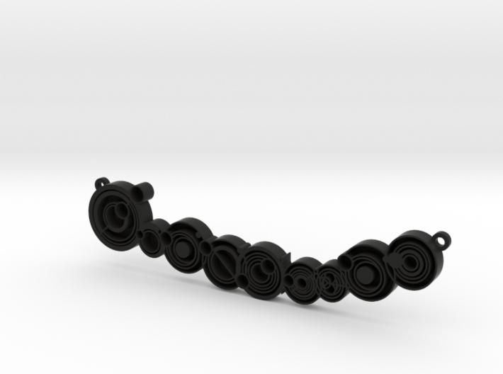 "Don't blink - Necklace pendant 3d printed Gallifreyan ""Don't Blink"" - Black Strong & Flexible"