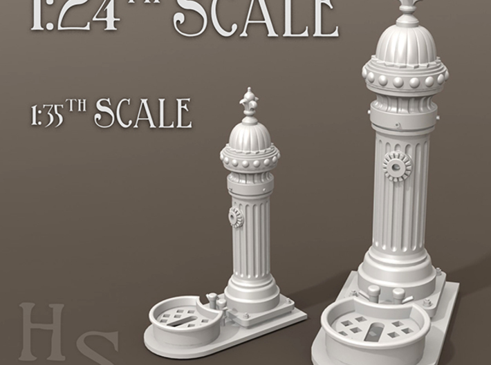 1:24th scale Classic European drinking fountain 3d printed