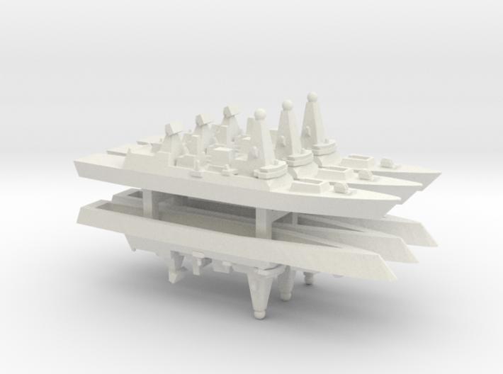 Type 45 DDG x 6, 1/2400 3d printed