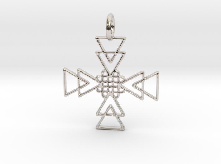 Squares Pendant No.2 3d printed