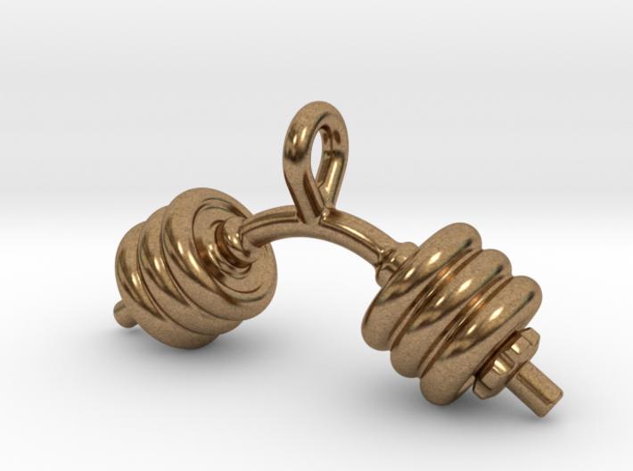Dumbbell Bent Tiny Little Earring 3d printed