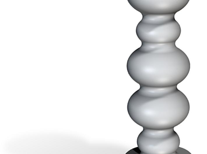 Porcelain Wavy Sphere Plug (Small) 3d printed