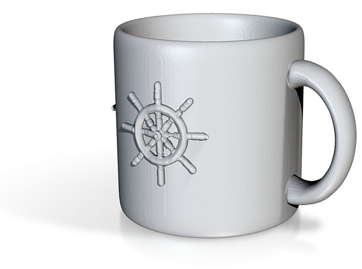 Steering Wheel Mug 3d printed