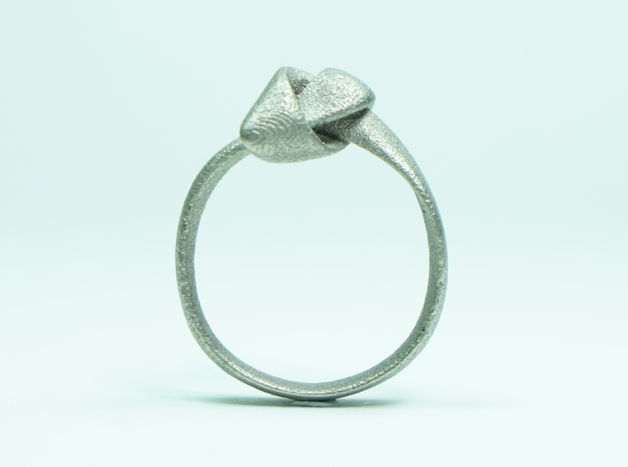 Knot Ring - Size 8 3d printed Stainless Steel