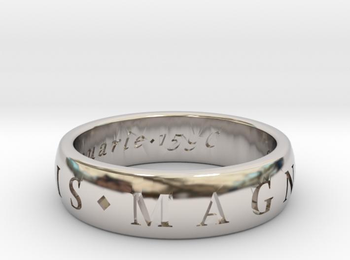 Size 10 Sir Francis Drake, Sic Parvis Magna Ring 3d printed