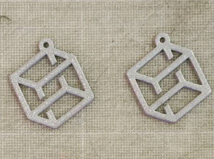 Cube thing earring 3d printed