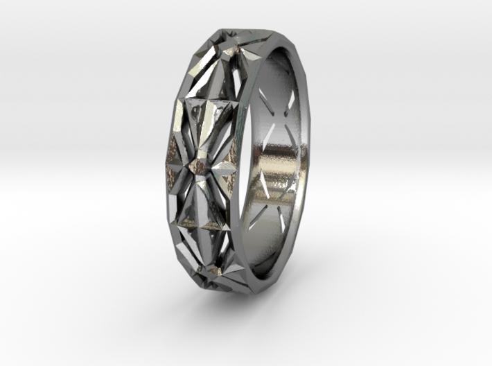 Cut Facets Ring Sz. 5.5 3d printed