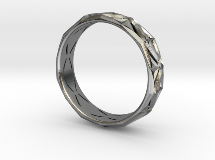 Cut Facets Ring Sz. 7.5 3d printed