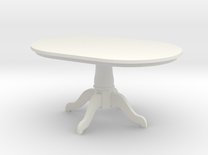 1:24 Pedestal Dining Table 3d printed