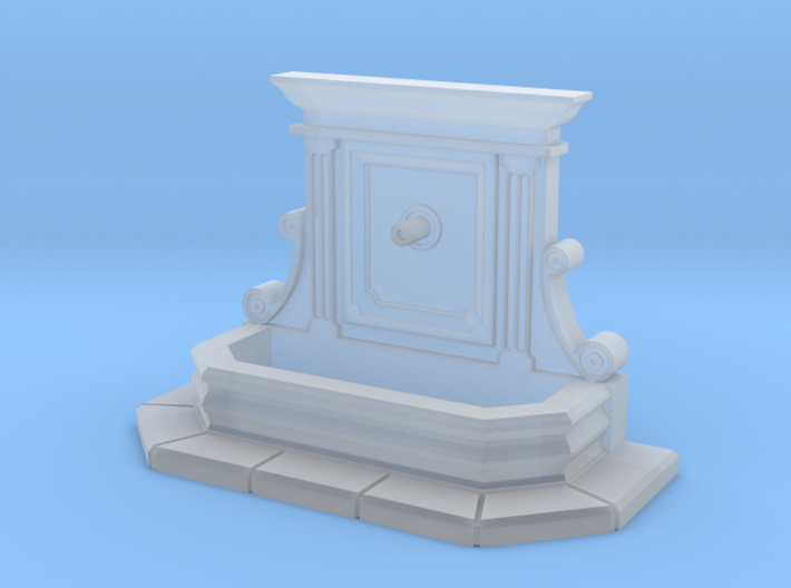 Wall fountain (TT 1:120) 3d printed