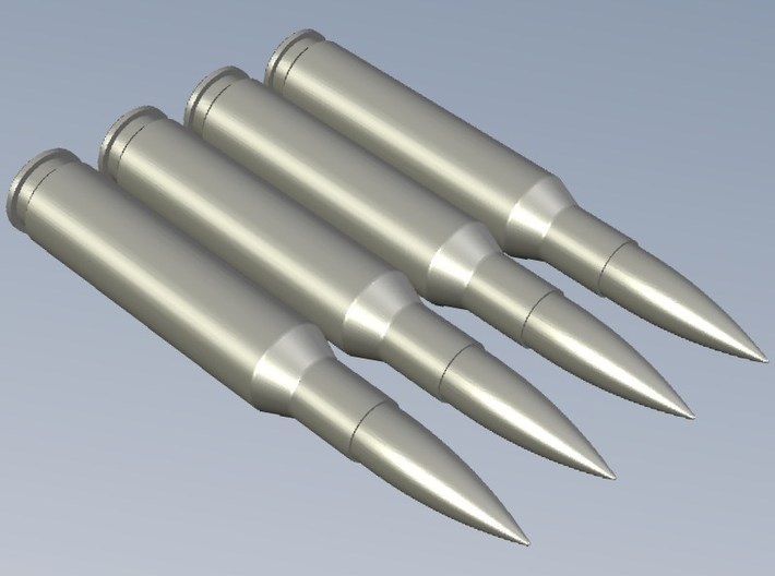 """Browning 0.50"""" 12.7x99mm NATO round replicas x 3 3d printed"""