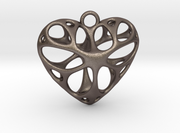 Heart Pendant_large 3d printed