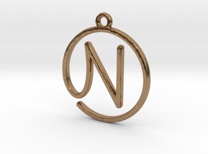 N Script Monogram Pendant 3d printed