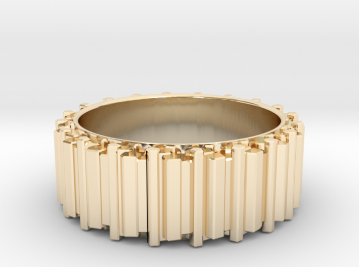 Crystal Ring - ring size ca 8 3d printed