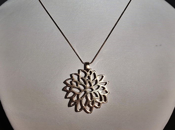 Carnation Pendant 3d printed add your own chain