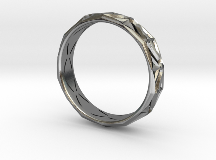 Cut Facets Ring Sz. 9.5 3d printed