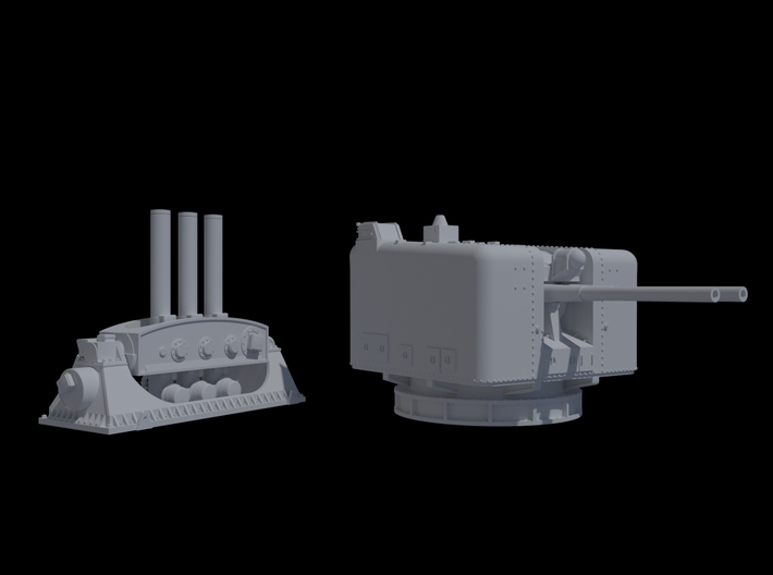 HMAS Swan 1-144 4.5 And Limbo 3d printed