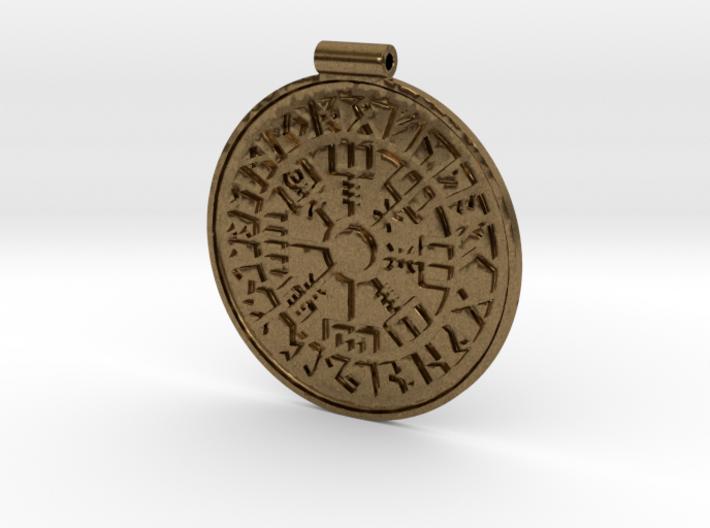 Vegvisir Nordic magical stave pendant 3d printed