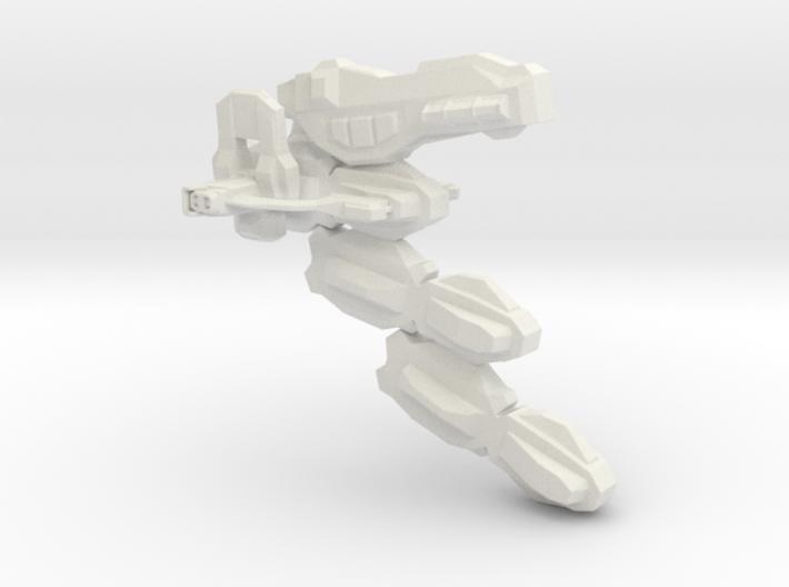 Uranium Cyber Diruso Spaceship 3d printed