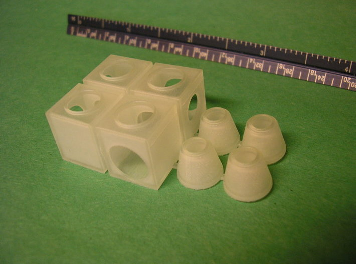 HO Storm Sewer Jct Box Concentric 3d printed Unpainted printed part