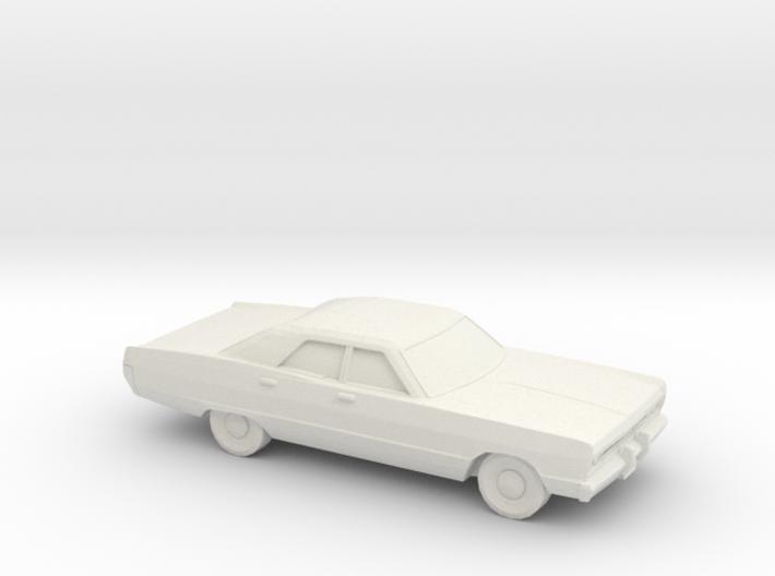 1/72 1969 Plymouth Fury Sedan 3d printed