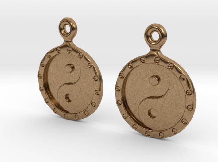 YinYang EarRings 1 - Pair - Metal 3d printed