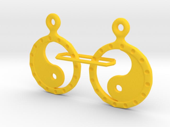 YinYang EarRings 2 - Pair - Plastic 3d printed