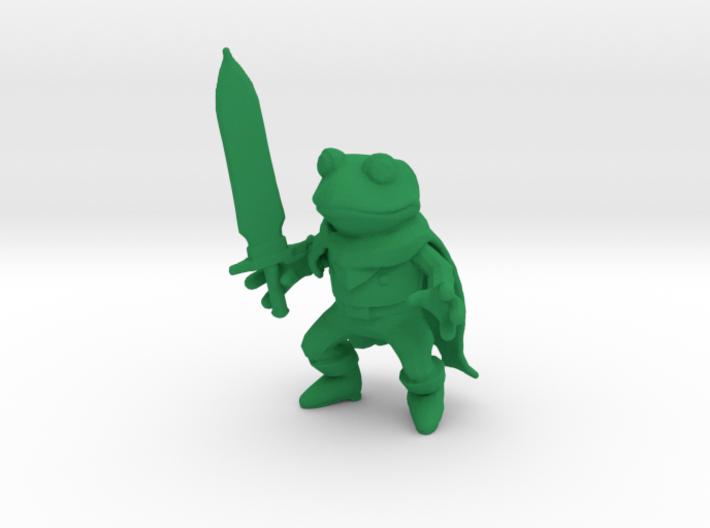 Frog and Sword Low Poly figure 3d printed