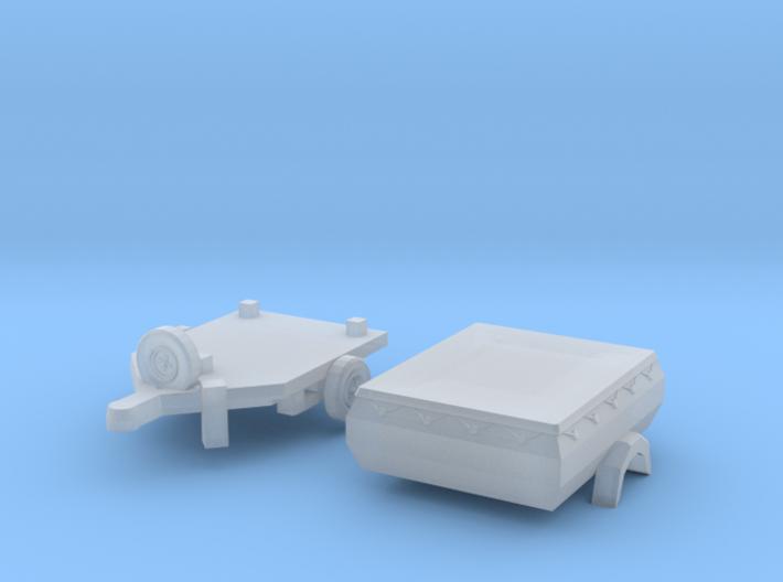 HP 350.01 mit Plane (TT 1:120) 3d printed