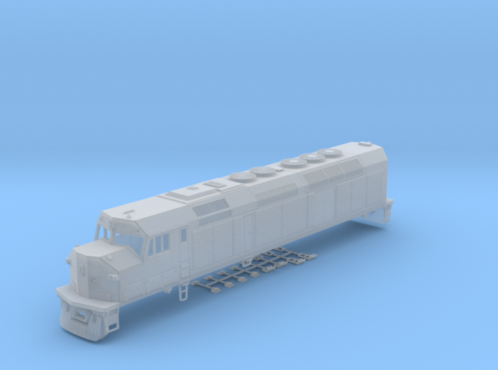 HO Scale EMD F40C (Milwaukee Road) 3d printed