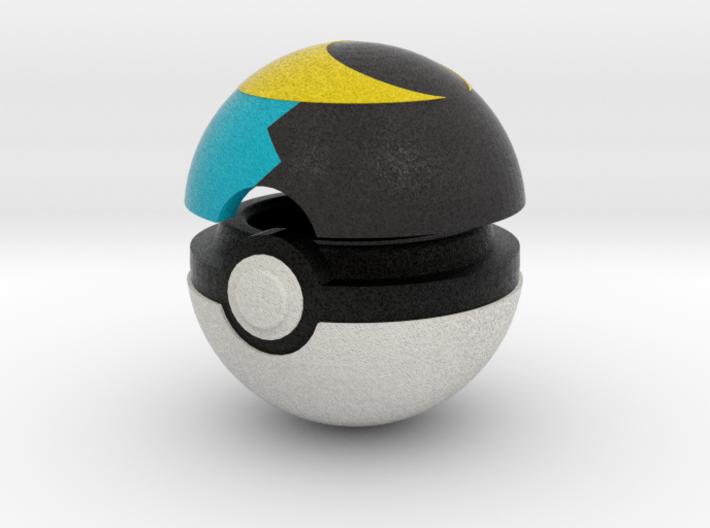 Pokeball (Moon) 3d printed