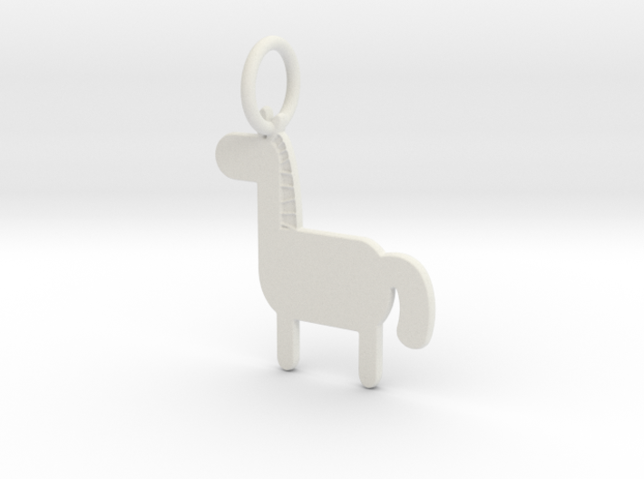 Horse Keychain 3d printed