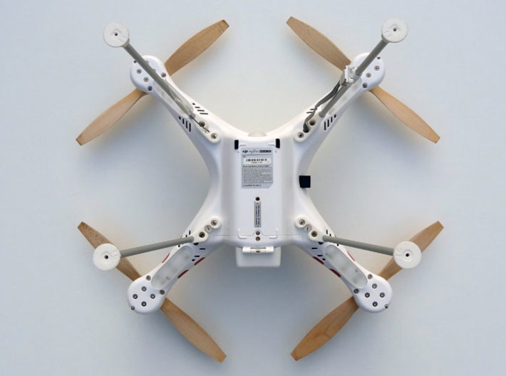 DJI Phantom Wide Landing Gear 3d printed DJI Phantom Wide Landing Gear bottom view