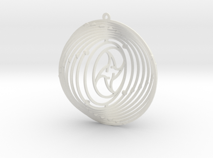 Pendant Wind Spinner Circle Sun and moon 3d printed