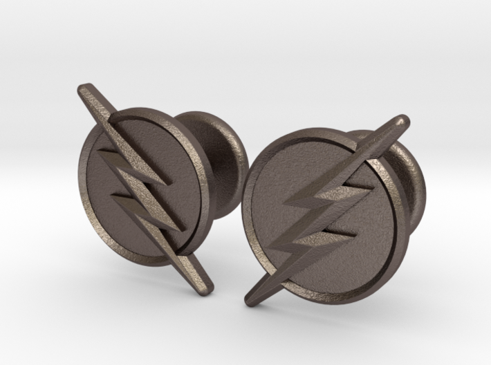Flash Cufflinks 3d printed