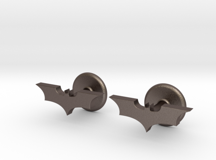 Dark Knight Cufflinks 3d printed