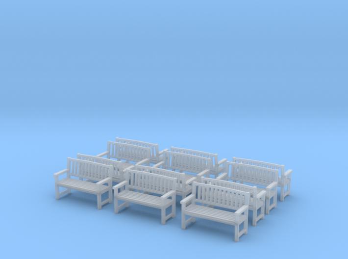Bench type B - 1:72 scale 12 pcs  3d printed