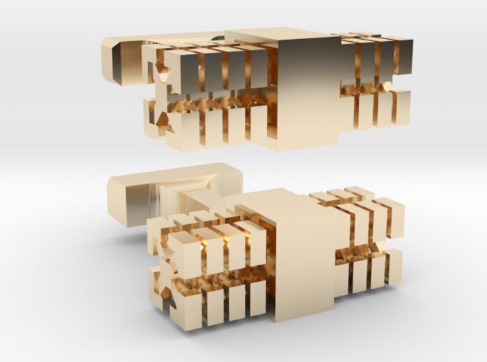 Square Cufflinks 3d printed