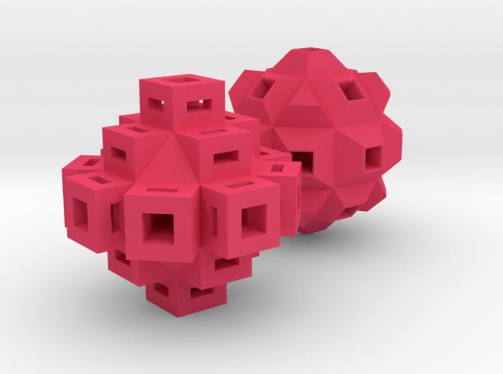 Abstract Geometric Rock Beads / Pendants 3d printed