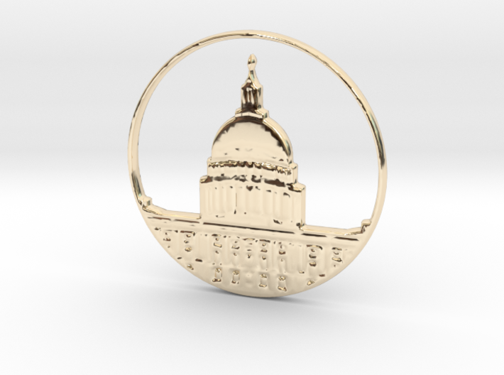 Washington DC Pendant 3d printed Washington DC Pendant (different materials have different prices)