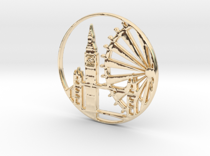 London Pendant 3d printed London Pendant (different materials have different prices)