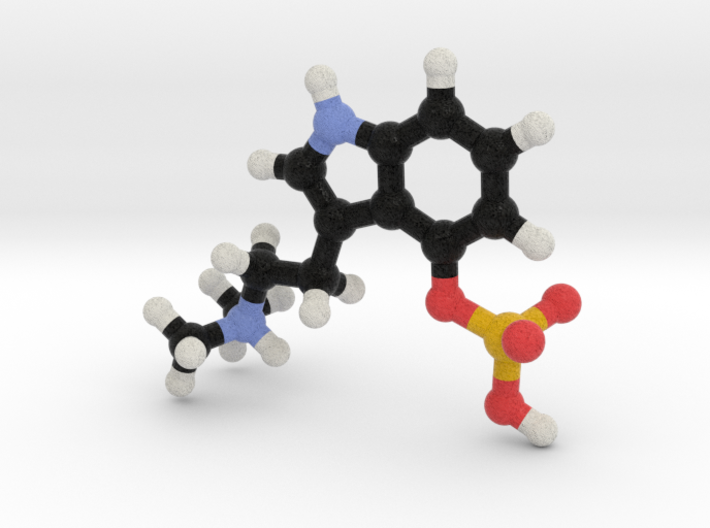 Psilocybin Molecule Model, 3 Size Options 3d printed